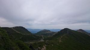 九重山の中岳からの眺望