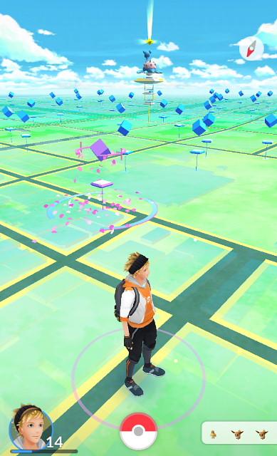 写真1ポケモンGOの待機画面
