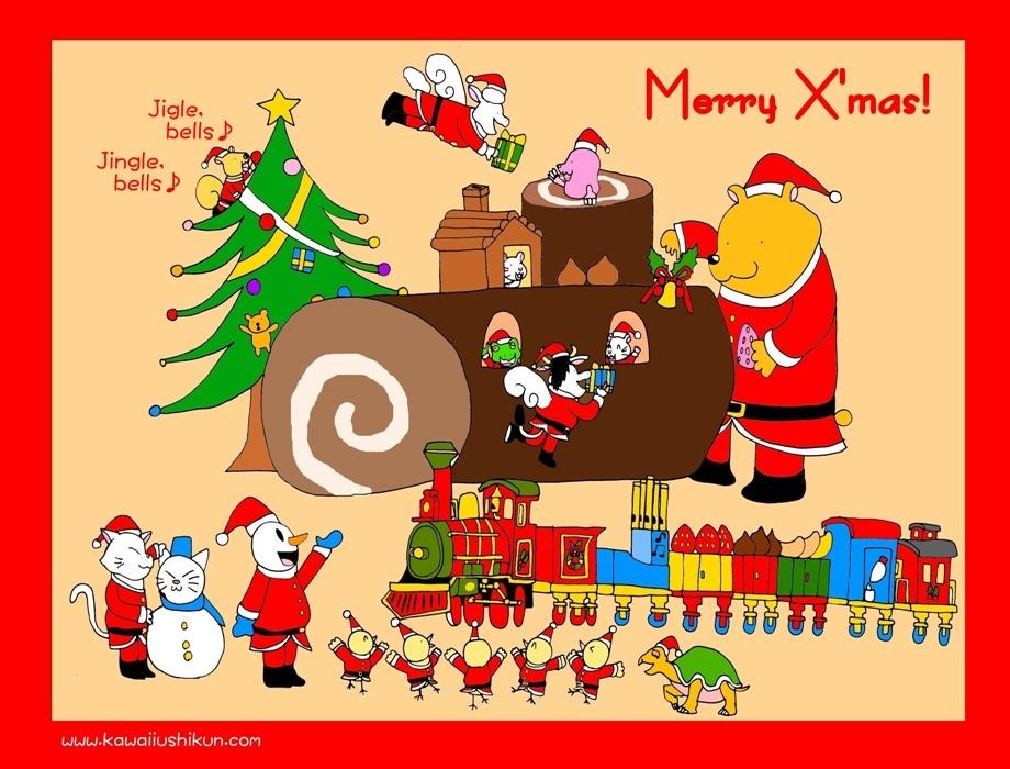 メリークリスマス牛くんロゴ入りジングルmini