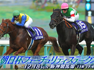 【朝日杯FS 枠順決定】7枠13番ミスエルテ、4枠8番ダンビュライト