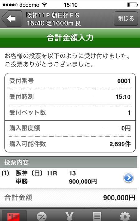 朝日杯FS ミスエルテ 馬券