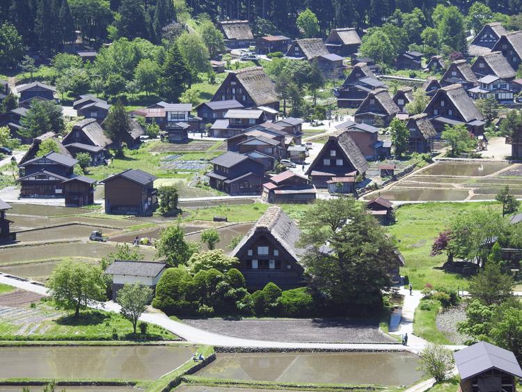 田んぼに水が張られる新緑の時期限定の風景を楽しもう! 白川郷 ⑦
