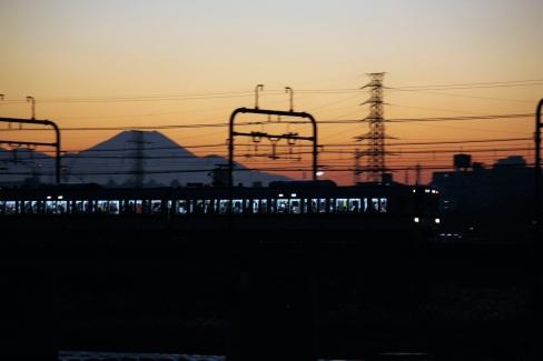 7000系、9000系と富士山