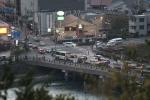 大吉山から見た宇治橋(夕方)
