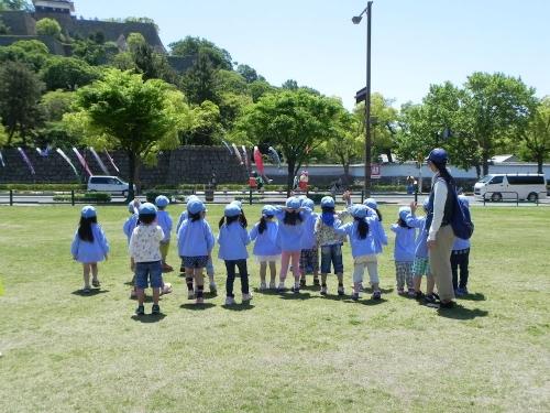 丸亀城を描く ろ kids art i!