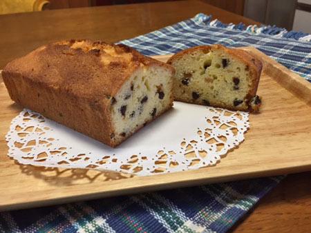 12月18日 チョコチップパウンドケーキ
