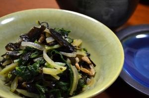 2016/11/13/あらめと大根菜の煮物