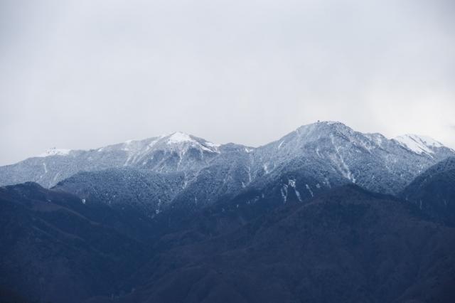 雪化粧の鳳凰三山