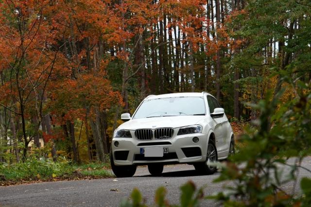 BMW/X3と紅葉