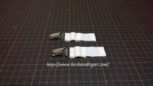 着物のウエスト補整の留め具(メッシュのゴム)