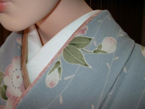 桜柄のシルック小紋(重ね衿)