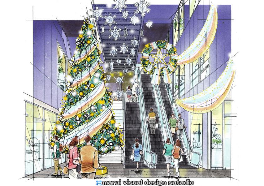 渋谷UNIMAT・Christmasディスプレイ