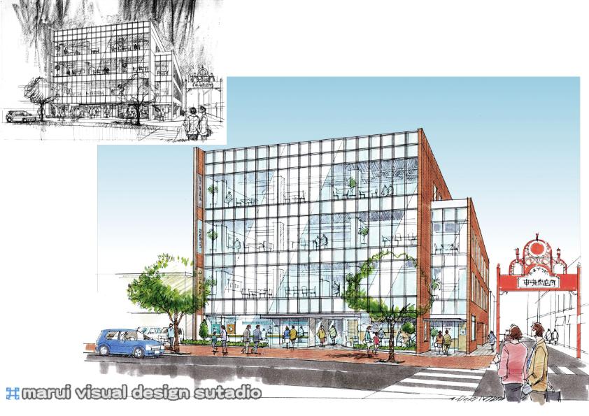 多摩プラザ・ビル計画イメージパース