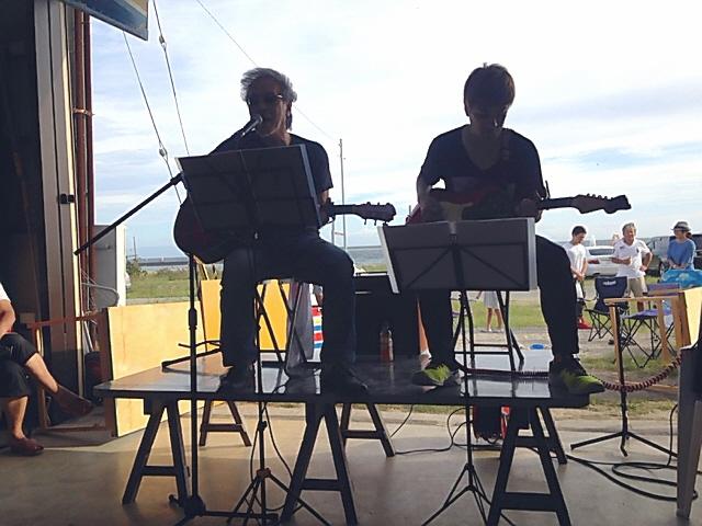 10/8 須磨浜 MASA☆AKI ライブ@須磨ローイングクラブ♪ まったりしました^^