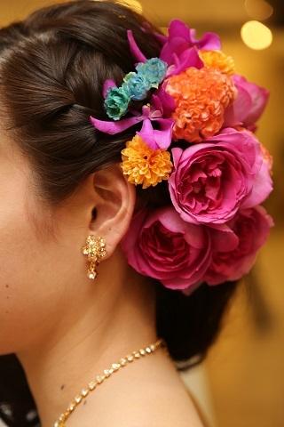 ヘア装花①