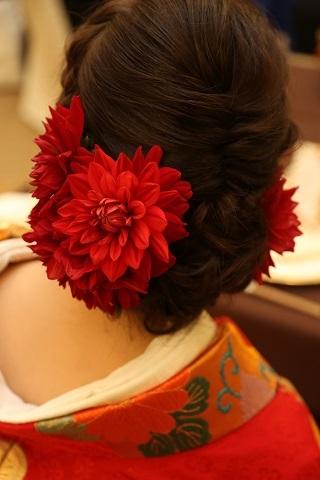ヘア装花②