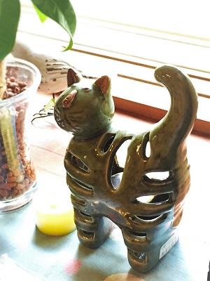 猫のキャンドルホルダー