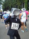 第30回日本海メロンマラソン・スタート前のカメラマンさん
