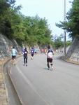 第30回日本海メロンマラソン・海岸線に向かう下り坂