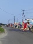 第30回日本海メロンマラソン・海の家のとこの給水所