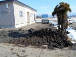 2016年12月6日・浄化槽を設置する穴を掘ったときの土