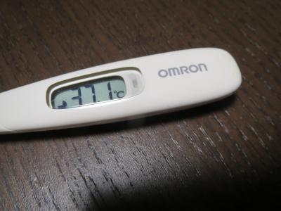 赤ちゃんが39度、私が37.1度の熱...
