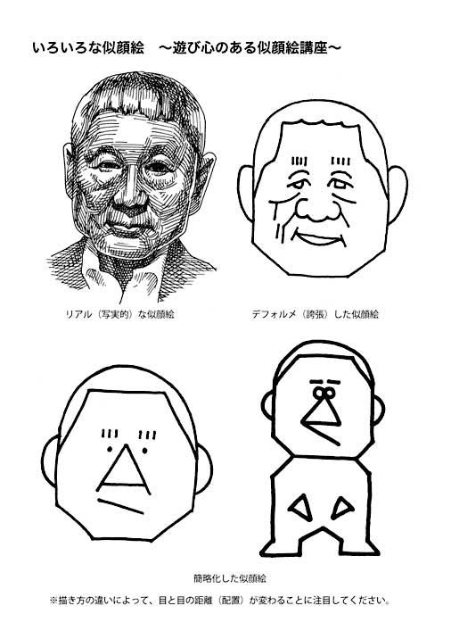 いろいろな似顔絵-遊び心のある似顔絵講座-
