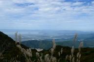 スカイテラス伊吹山から琵琶湖と竹生島を望む
