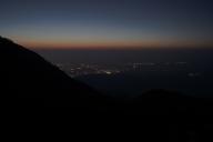 スカイテラス展望台から見た長浜市の夜景