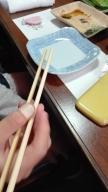 ぷに子の箸の持ち方