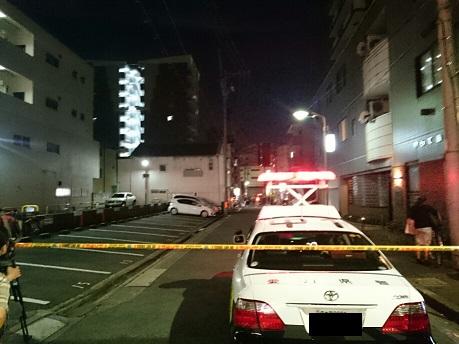 名古屋の発砲事件の現場