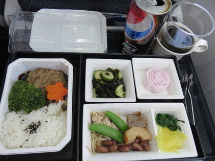 帰りの機内食2