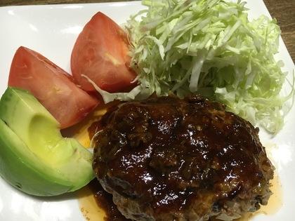 合い挽き肉でハンバーグ