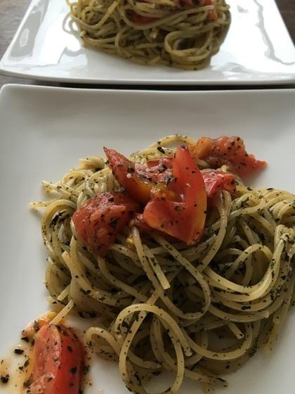バジルとトマトのパスタ