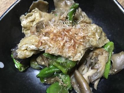 油揚げと野菜の炒め煮