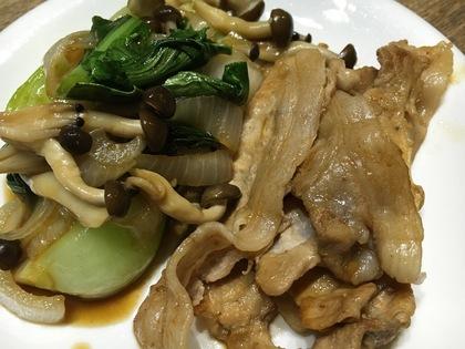 豚肉と野菜の甘辛ニンニク醤油炒め