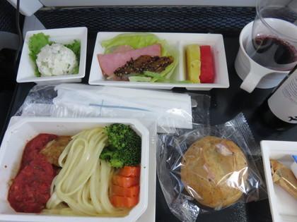 帰りの機内食1