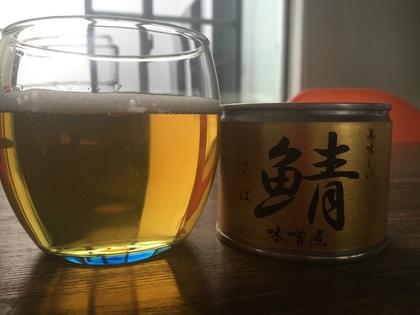 サバ缶で一杯