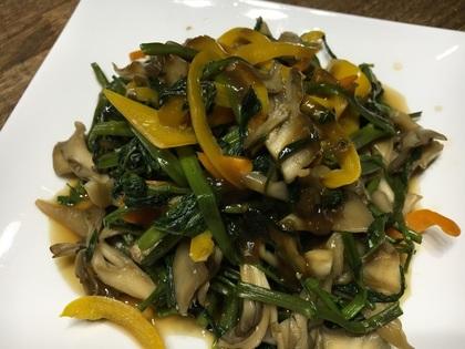 パプリカと空芯菜の炒め物