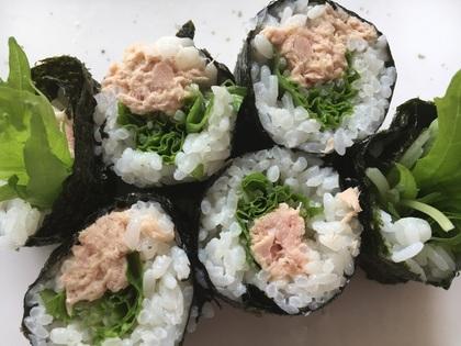 ツナと水菜の海苔巻き