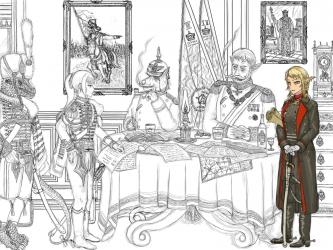 オークと姫騎士 19世紀風