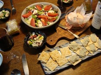サラダとチーズ