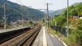南木曽駅のホーム