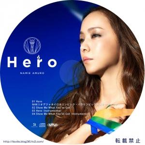 安室奈美恵 HERO CDラベル