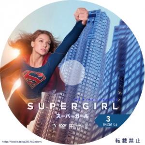 SUPERGIRL/スーパーガール DVDラベル03