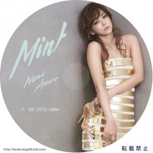 安室奈美恵 Mint DVDラベル