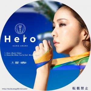 安室奈美恵 HERO DVDラベル