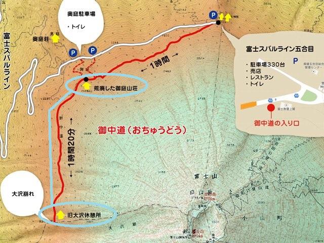 大沢崩れ地図