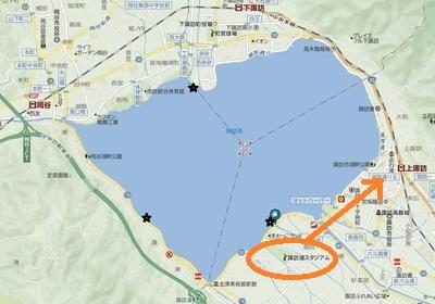 諏訪湖の地図★[1]