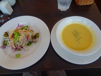 グリーンハウスのサラダとスープ